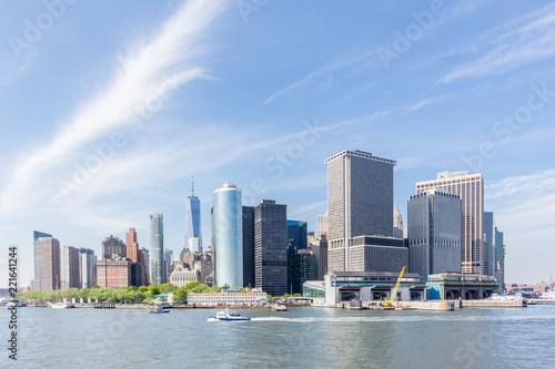 Spoed Foto op Canvas New York City Panoramic view of Lower Manhattan, New York City, USA.