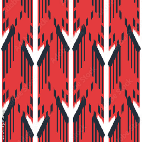 Fotobehang Boho Stijl Ikat Seamless Pattern Design. Ethnic fabric. Bohemian fashion