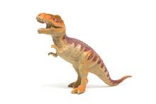 Plastic Tyrannosaurus Toy Isolated On White Background