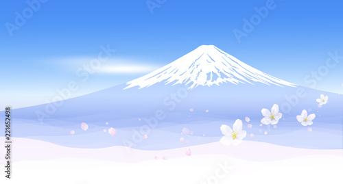 Fototapeta 富士山と春の風景