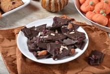 Dark Chocolate And Cranberry Bark