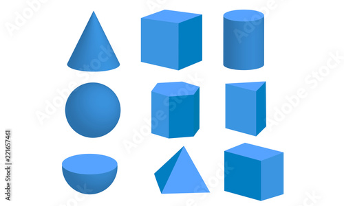 Basic 3d geometric shapes - Buy this stock vector and