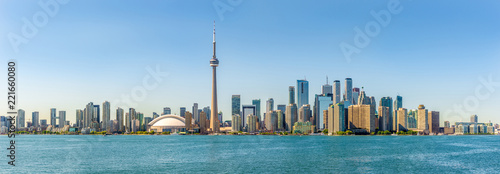 Panoramic skyline view at the Toronto city in Canada Canvas Print