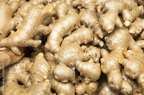 pile of ginger for background
