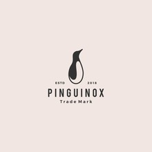 Penguin Logo Retro Vintage Hip...