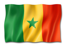 Senegalese Flag Isolated On Wh...