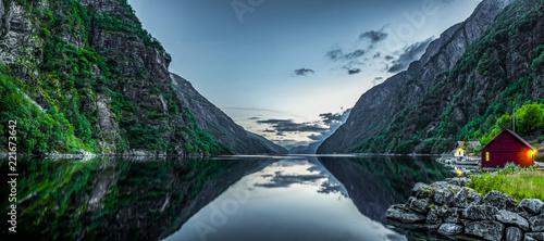Fjord in Norwegen Canvas Print
