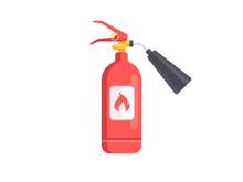 Fire Extinguisher Icon Isolate...