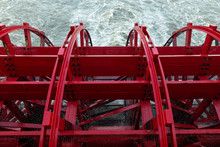 Paddlewheel On A Boat On The M...