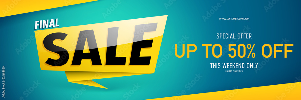 Fototapety, obrazy: Sale banner template design.