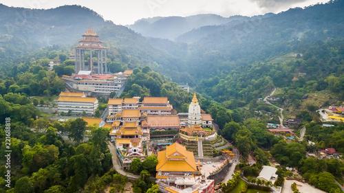 Fototapeta Kek Lok Si Chinese temple aerial shot obraz