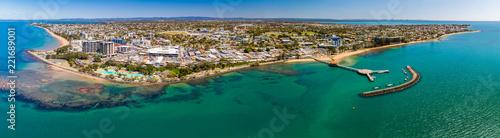 Fotografía  Aerial drone view of Settlement Cove Lagoon, Redcliffe, Australia