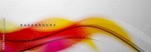 Photo  Smooth blur wave background