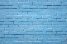 Painted External Blue Brick Wall