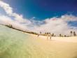 St. Marteen, Caribbean - 2017. Marigot Beach - little paradise in the Caribbean Sea.