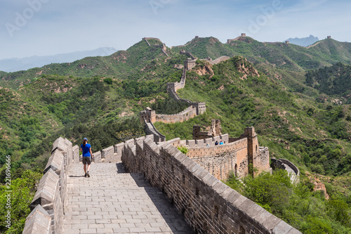 In de dag China Great Wall of China