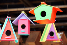 Hanging Colorful Wooden Bird H...