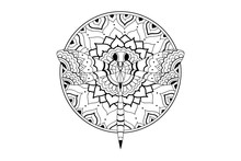 Mandala Hand Drawn Indian Patt...