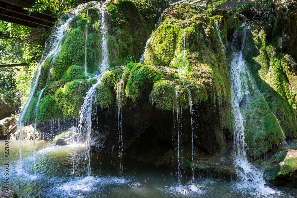 Fototapety, obrazy: Waterfall, overlooking the Bigar waterfall, Romania country