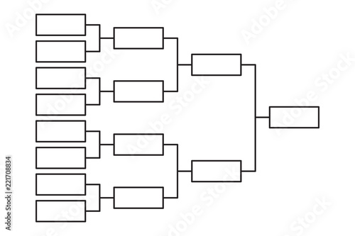 Tournament bracket 8 team icon template - Buy this stock vector and