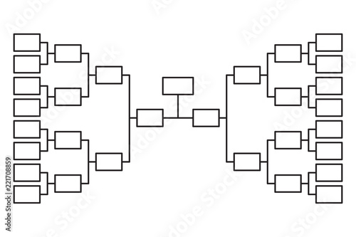 Tournament bracket 16 team icon template - Buy this stock