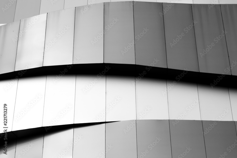 Fototapety, obrazy: Abstract background architecture lines. modern architecture detail