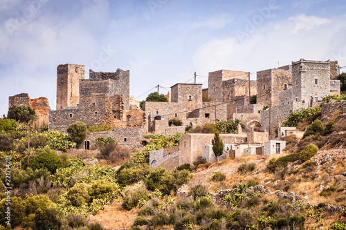 Papiers peints Con. ancienne Tower houses in Vathia Greece Mani Peninsula