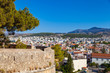 View of Rethymno from walls of Fortezza of Rethymno, Crete island, Greece