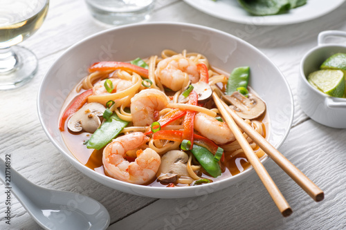 Spicy Asian Shrimp Noodle Soup
