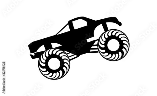 Black Monster Truck Isolated On White Background Buy This Stock Vector And Explore Similar Vectors At Adobe Stock Adobe Stock