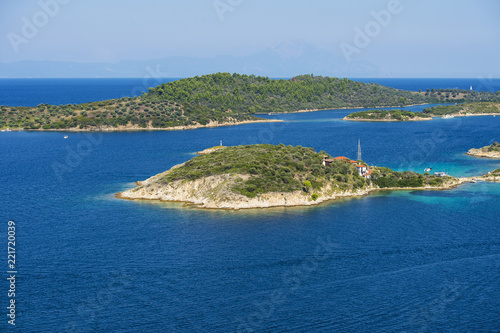 In de dag Mediterraans Europa Aerial view on sithonian islands, Greece