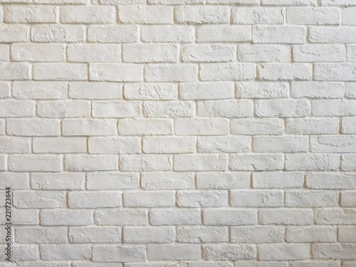 Foto op Plexiglas Wand Interior room with white brick wall,A white brick wall