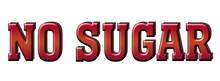 No Sugar 3d Red Logo Stamp Banner