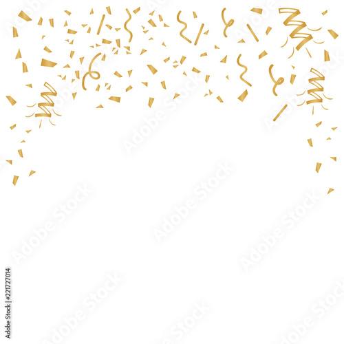 Gold confetti celebration. Celebrate gold vector background