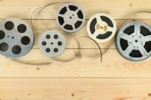 Obsolete Cinema Films On Woode...