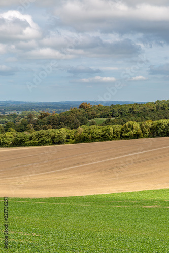 Spoed Foto op Canvas Bleke violet A South Downs Landscape