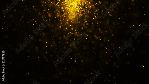 Fototapety, obrazy: Dust particles. Abstract particle background. Particle explosion. Dots background. 4k rendering.