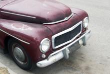 A View Of A Vintage Classic Car In Venice Beach, California