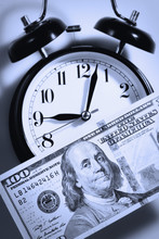 Time Is Money. Alarmclock With...
