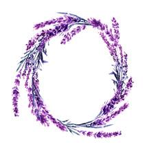 Lavender Flower Wreath Waterco...