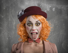Funny Grimace Clown Girl Girl ...