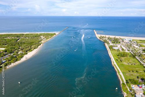 Fotografija Inlet to Atlantic Ocean at Fort Pierce Florida