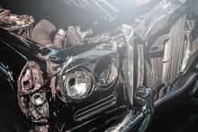 Retro Automobile After Car Crash