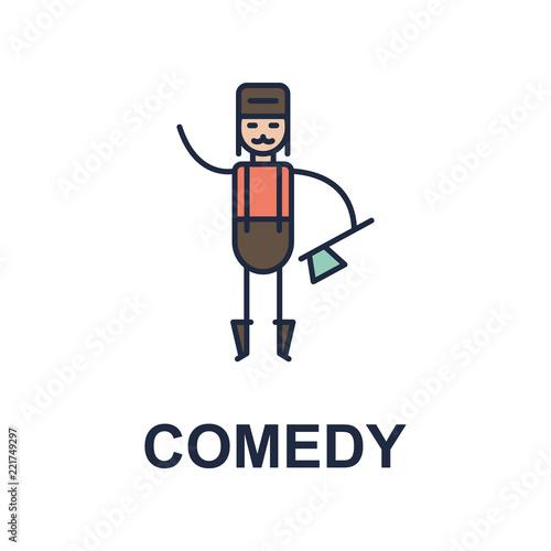 Fotografija  comedy musician icon