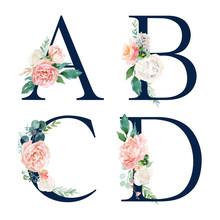 Floral Alphabet Set - Set Of N...