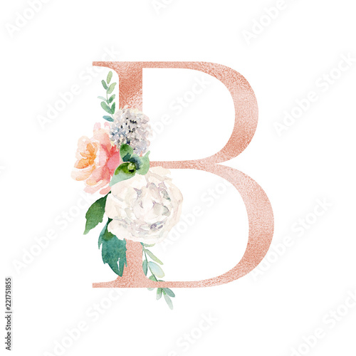 Blush / Peach Color Letter B With