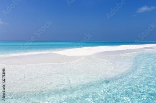 Maldivian sandbank in Indian ocean