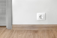 Electric Socket Mounted On Wal...