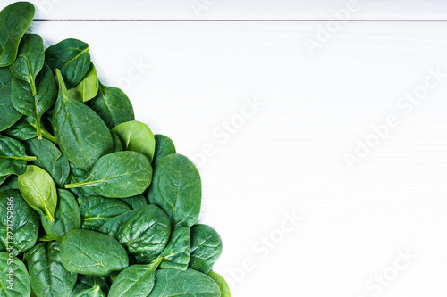 Fresh baby spinach frame