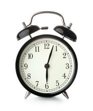 Old-fashioned Alarm Clock Isolated On White Background
